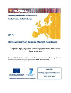 Review Essay on Labour Market Resilience - INSPIRES
