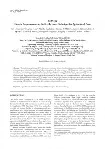 REVIEW Genetic Improvements to the Sterile Insect ... - MSMBB