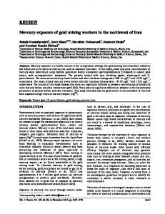 REVIEW Mercury exposure of gold mining workers in ...