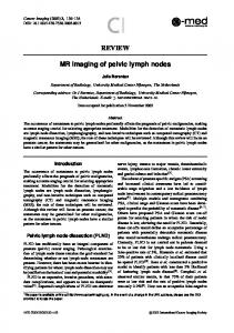 REVIEW MR imaging of pelvic lymph nodes - Springer Link