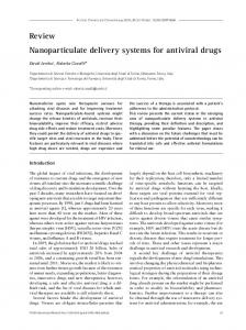 Review Nanoparticulate delivery systems for antiviral drugs