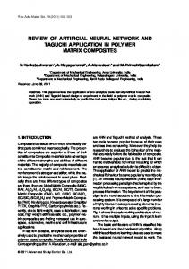 review of artificial neural network and taguchi application in polymer ...