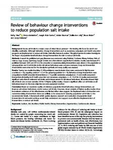 Review of behaviour change interventions to reduce population salt ...