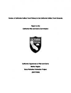 Review of California Halibut Trawl Fishery in the California ... - Core