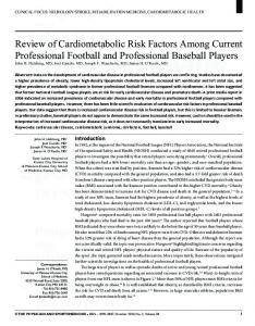 Review of Cardiometabolic Risk Factors Among ...