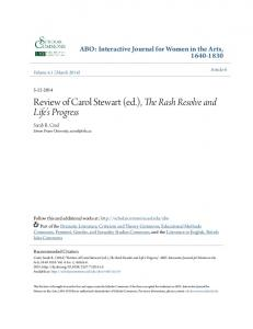 Review of Carol Stewart - USF Scholar Commons