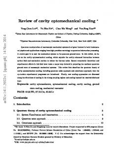 Review of cavity optomechanical cooling