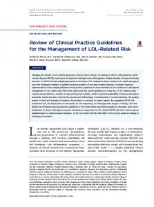 Review of Clinical Practice Guidelines for the Management of LDL ...