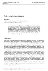 Review of dark photon searches - EPJ Web of Conferences