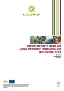 review of food miles, carbon, and african horticulture