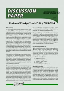 Review of Foreign Trade Policy 2009-2014 - cuts citee