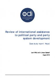 Review of international assistance to political party and party system ...