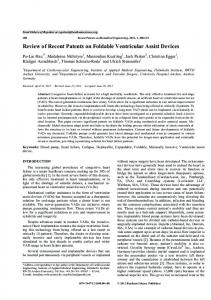 Review of Recent Patents on Foldable Ventricular