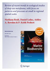 Review of recent trends in ecological studies of deep