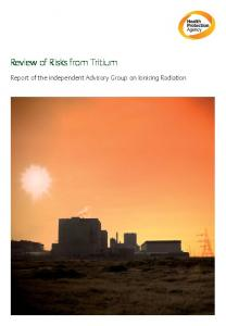 Review of Risks from Tritium - Environmental Research Foundation