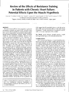 Review of the Effects of Resistance Training in
