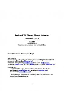 Review of UK Climate Change Indicators - Core