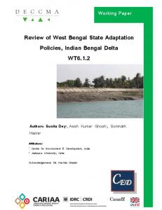 Review of West Bengal State Adaptation Policies, Indian Bengal Delta