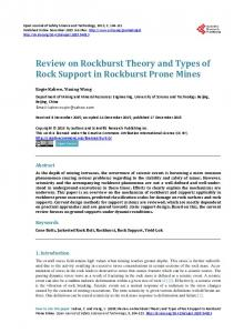 Review on Rockburst Theory and Types of Rock Support in Rockburst ...