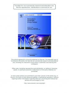 Review on the energy and renewable energy status in ... - umexpert