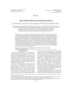 Review Stem Cell-Based Therapy for Ischemic Heart ... - SAGE Journals