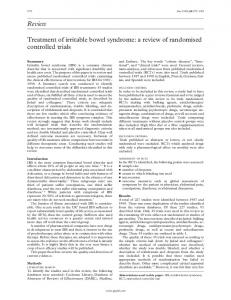 Review Treatment of irritable bowel syndrome: a review ... - Europe PMC