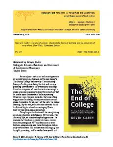 Reviewed by Robyne Elder Collegiate School of ... - Education Review