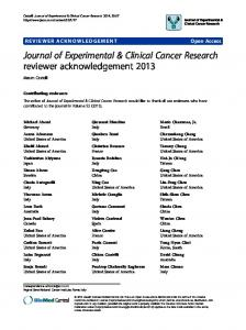 reviewer acknowledgement 2013