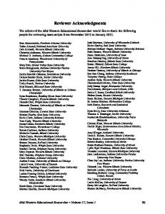Reviewer Acknowledgments