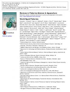 Reviews in Fisheries Science & Aquaculture World ...