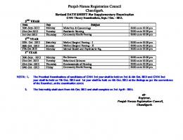 Revised Date Sheet -Supplementary Exam-Sept.-2013