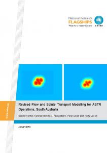 Revised flow and solute transport modelling for ASTR operations ...