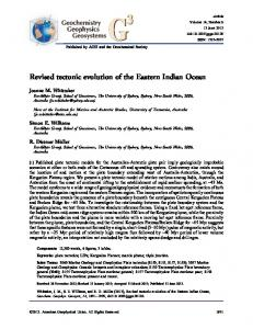 Revised tectonic evolution of the Eastern Indian ... - Wiley Online Library