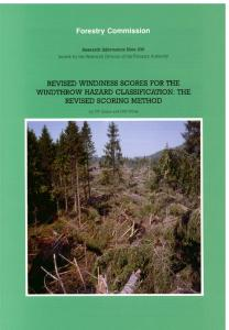 Revised windiness scores for the windthrow hazard classification ...