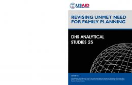 Revising Unmet Need for Family Planning [AS25] - The DHS Program