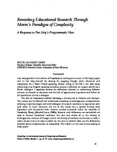 Revisiting Educational Research Through Morin's ... - Publishing