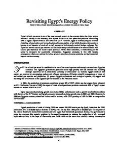 Revisiting Egypt's Energy Policy