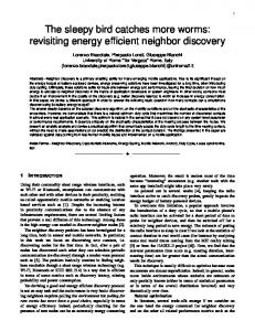revisiting energy efficient neighbor discovery - netgroup | Networking ...
