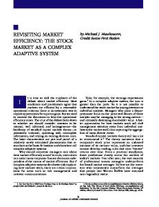 REVISITING MARKET EFFICIENCY: THE STOCK ... - Calculemus