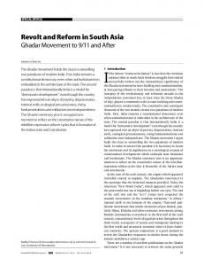 Revolt and Reform in South Asia