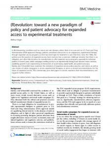 (R)evolution: toward a new paradigm of policy and ...