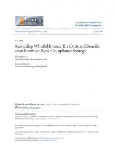 Rewarding Whistleblowers: The Costs and ... - Semantic Scholar
