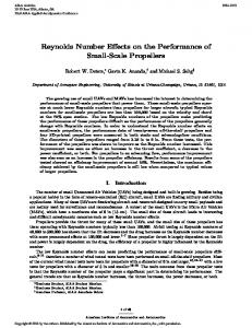 Reynolds Number Effects on the Performance of Small-Scale Propellers
