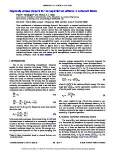 Reynolds stress closure for nonequilibrium effects in turbulent ... - TESLa