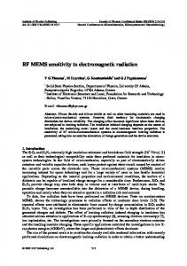 RF MEMS sensitivity to electromagnetic radiation
