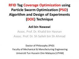 RFID Tag Coverage Optimization using Particle