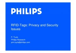 RFID-Tags: Privacy and Security Issues - Key4biz