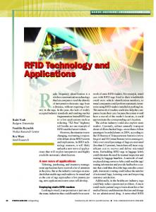 RFID Technology and Applications RFID Technology and Applications