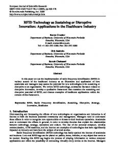 RFID Technology as Sustaining or Disruptive Innovation: Applications ...