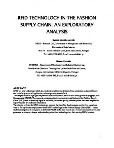 rfid technology in the fashion supply chain: an
